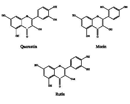 synergism of flavonoids with bacteriostatic action against, Skeleton
